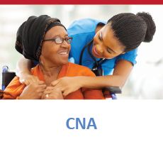 CNA speaking to an older lady